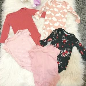 CARTERS AND BABY GAP Variety set of onesies